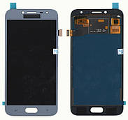 Дисплей + сенсор Samsung J250 J2 ( J2018) Сірий LCD TFT, з регулюванням яскравості