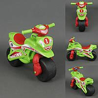 Каталка мотоцикл МУЗЫКАЛЬНЫЙ Спорт салатовый, фото 1