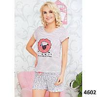 Комплект-двойка женский  футболка и шорты с принтом Pink Secret (Турция) XL 0a817d190a798
