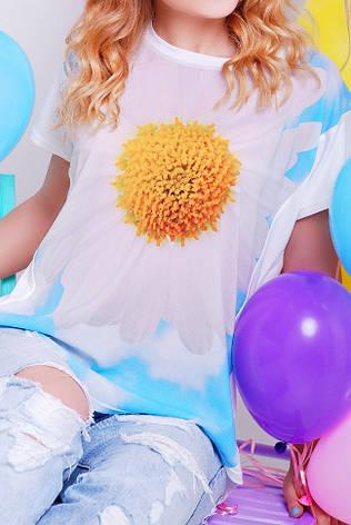 """Жіноча футболка """"Air"""" з принтом квітка, фото 2"""