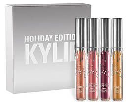 Набор помад kylie holiday edition lip kit 4 штуки