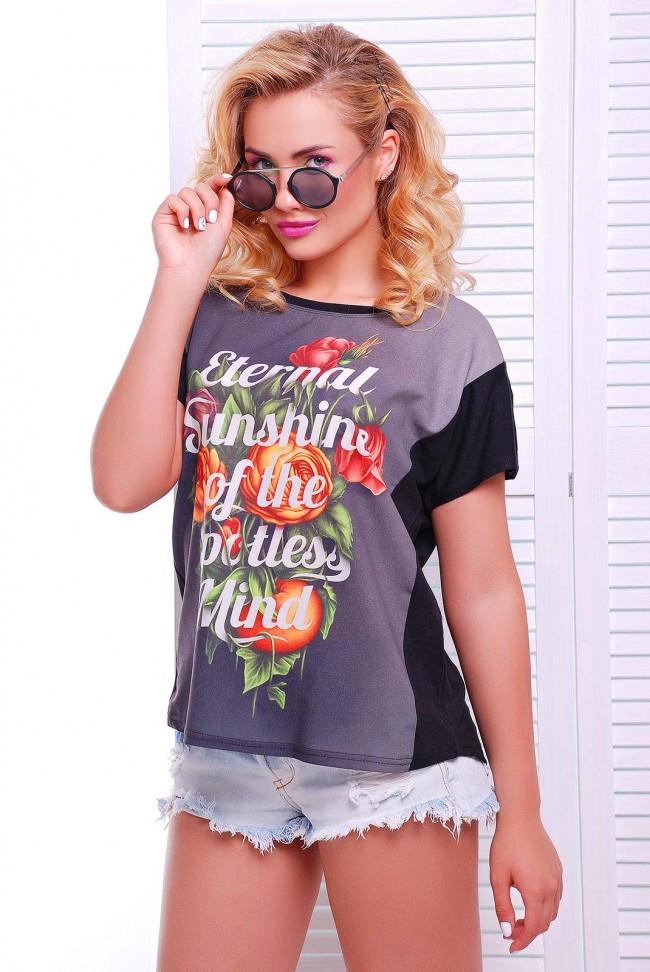 """Модна молодіжна жіноча футболка з принтом """"Air"""""""