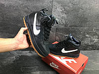 Мужские зимние кроссовки Nike Lunar Force синие ( Реплика ААА+)