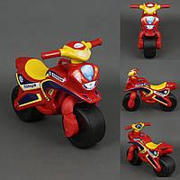 Каталка мотоцикл Полиция фламинго красный