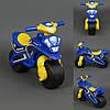 Каталка мотоцикл Полиция фламинго синий