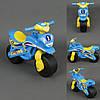 Каталка мотоцикл Спорт голубой