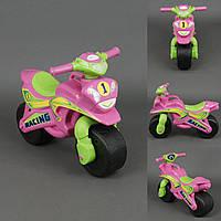 Каталка мотоцикл Спорт розовый, фото 1