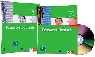 Немецкий язык / Passwort Deutsch / Kursbuch+Übungsbuch+CD. Учебник+Тетрадь (комплект с диском), 2 / Klett