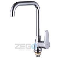 Смеситель для кухни Zegor SOP4-A (SOP7-A045) однорычажный высокий цвет хром