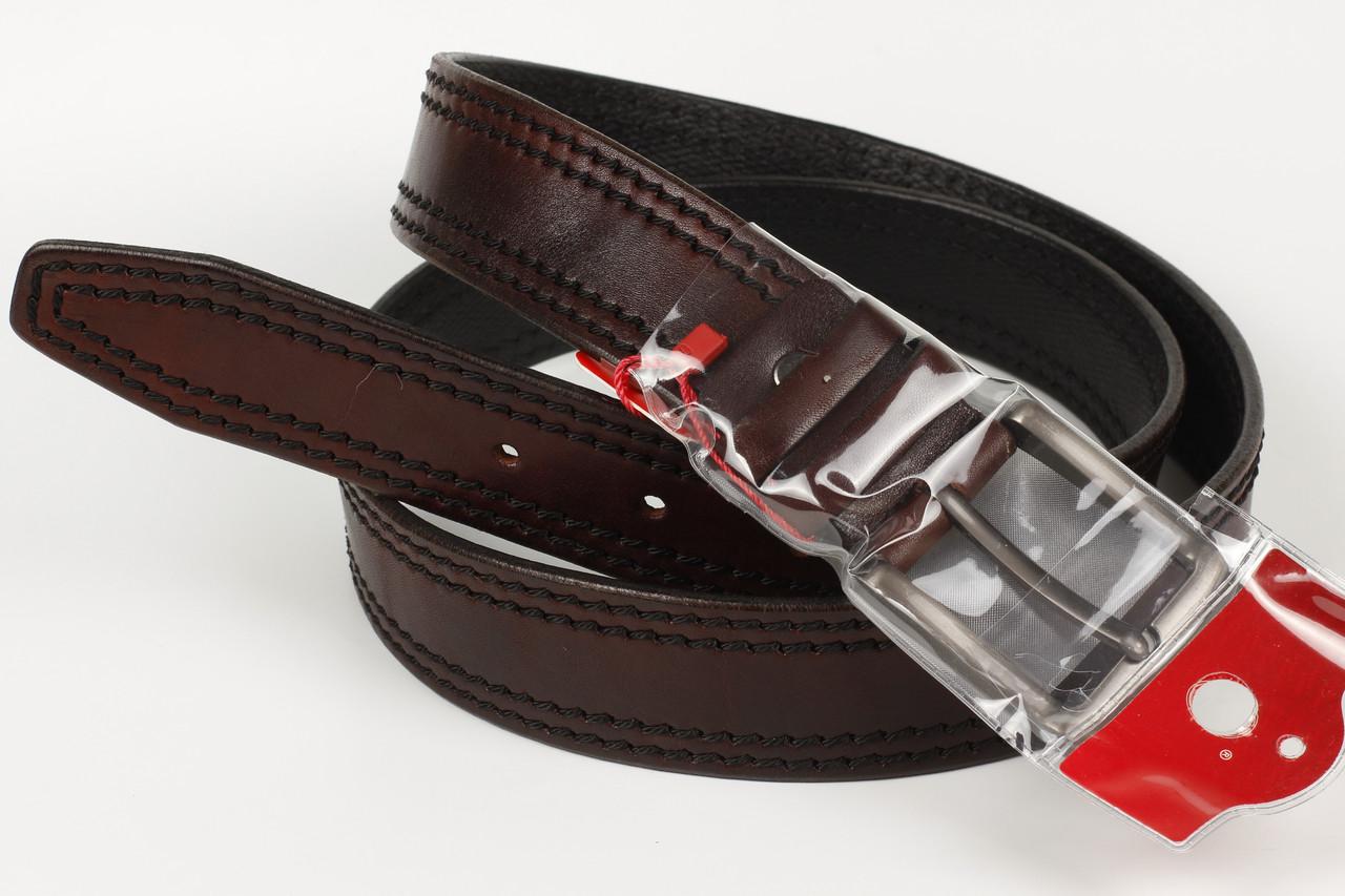 Ремень кожаный брючный King Belts 40 мм баталы 118 см 141 см