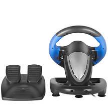 Игровой руль для ПК Gemix WFR-2, руль с педалями для компьютера, фото 3