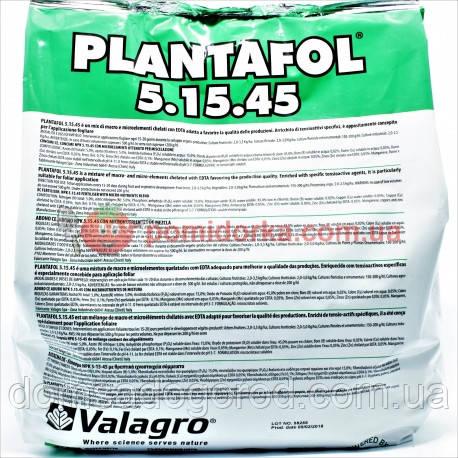 Комплексное удобрение ПЛАНТАФОЛ (PLANTAFOL) 5.15.45. (дозревания плодов) Valagro 5 кг
