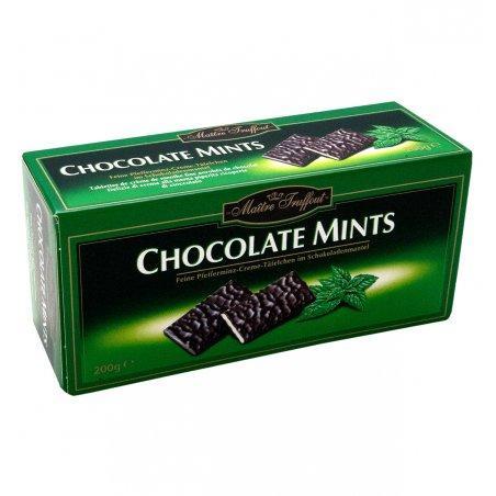 Мятные шоколадные конфеты Chocolate Mints, 200г,  черный шоколад с мятой Maitre truffout chocolate mints