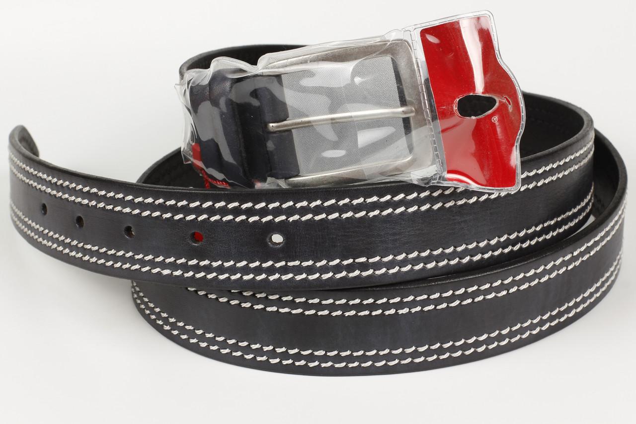 Ремень кожаный брючный King Belts 40 мм баталы 129 см 155 см