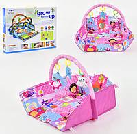 Развивающий коврик для младенцев музыка розовый, фото 1