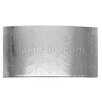 Металлизированные наклейки, серебро, 177S