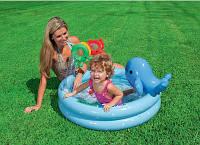 Надувной бассейн Intex Дельфинчик с надувным дном 57 литров, фото 1