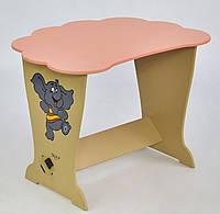 """Стол парта для девочек облачко слоник """"Мася"""""""