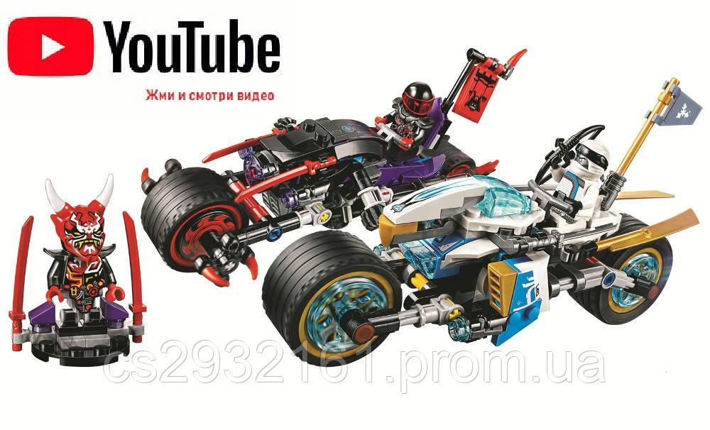 """Конструктор """"Ninjago"""",Bela Ninja 10802, Аналог Lego Ninjago 70639, Уличная погоня 333 дет, конструктор 10802"""