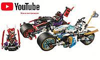 """Конструктор """"Ninjago"""",Bela Ninja 10802, Аналог Lego Ninjago 70639, Уличная погоня 333 дет, конструктор 10802, фото 1"""