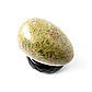Унакит яшма, статуэтка яйцо, 003ФУ, фото 3