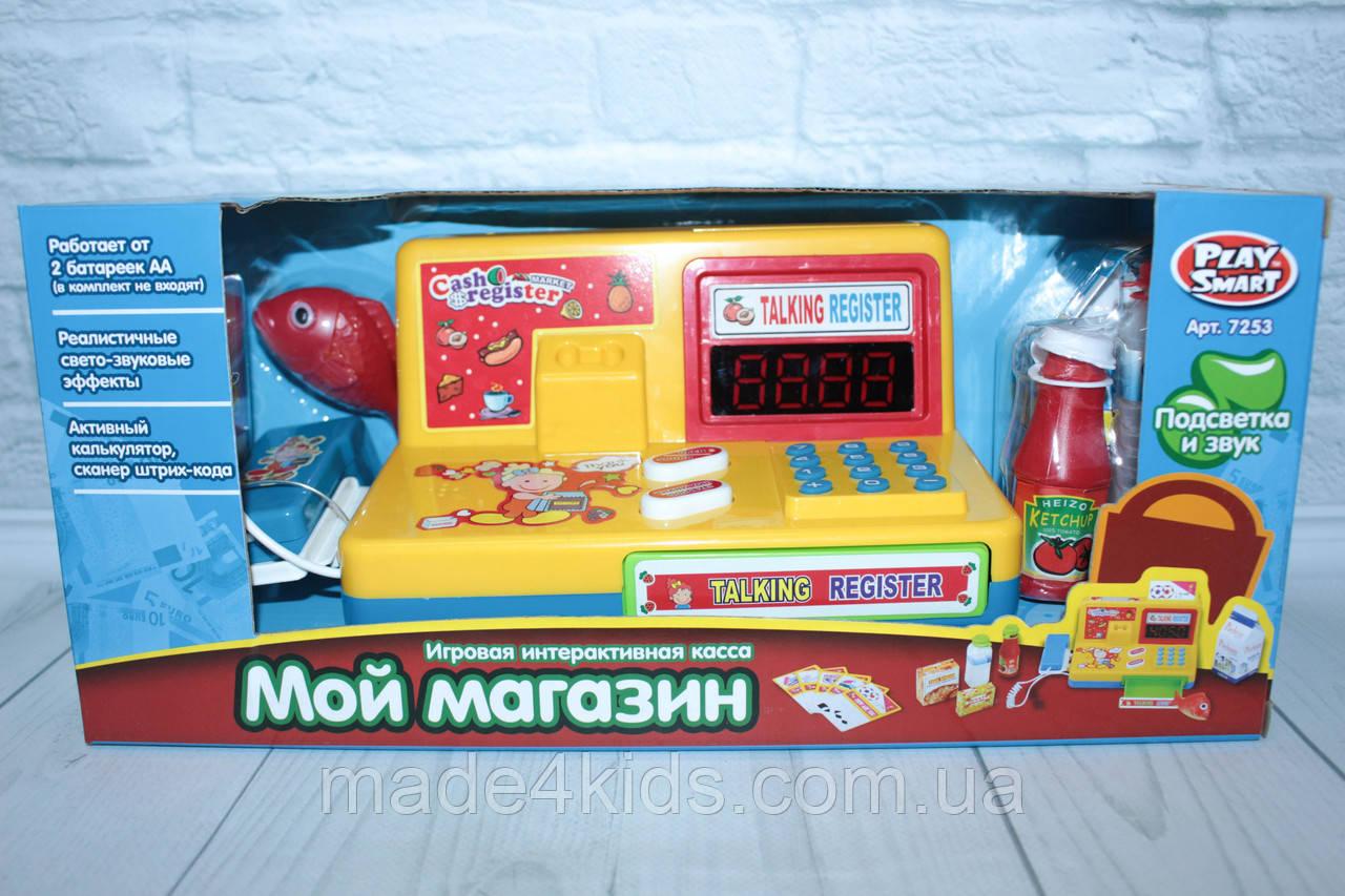 Кассовый аппарат, свет, звук, сканер, продукты, калькулятор, в коробке, фото 1
