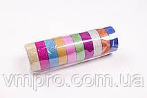 Скотч декоративный перламутровый (15 mm×3 m,10 шт/упаковка) №W-57, разные цвета