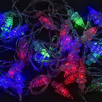Гирлянда светодиодная 28 лампочек, 5 метров, мультиколор