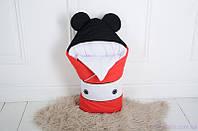 """Демисезонный конверт одеяло для новорожденного """"Микки Маус"""", на трикотаже, фото 1"""