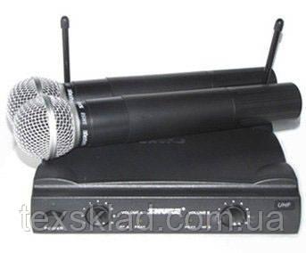 Микрофоны SHURE SM58 — 2шт, база UT4 UHF