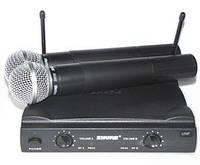 Микрофоны SHURE SM58 — 2шт, база UT4 UHF, фото 1