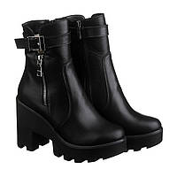 Черные Зимние Ботинки на Тракторной Платформе — в Категории ... ea137c7b79a