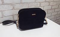 Сумочки Zara, замш, 3 отдела, цвета!