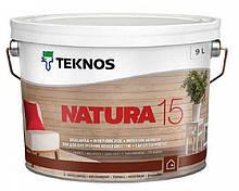 Лак акриловый TEKNOS NATURA 15 мебельный (полуматовый) 9 л
