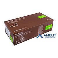 Перчатки латексные Комфорт ПФ (Comfort PF, Mercator Medical), бежевые, размер «S», 50пар/упак.