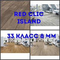 Ламінат Red clic, Island collection, товщина 8 мм, без фаски, клас 33 клас