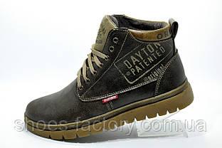 Кожаные ботинки Clarks Originals Dayton, Brown (Зимние)