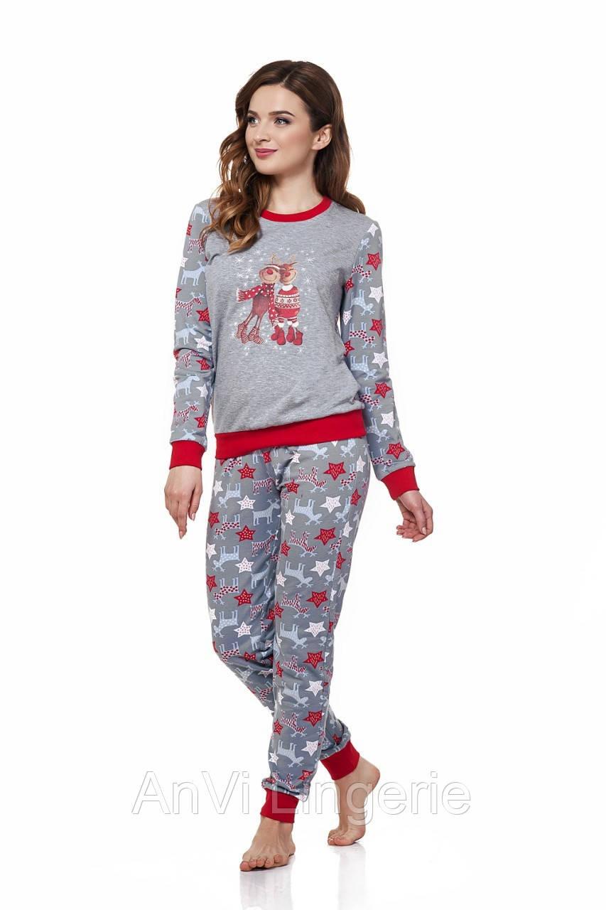 6d60b6b48c62d Тёплая новогодняя пижама с начёсом ELLEN размер XL - AnVi Lingerie в Киеве