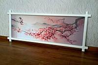"""Картина в деревянной рамке """"Ветка Сакуры""""."""
