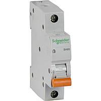 Автоматичний вимикач Schneider Electric 25А, 1P, З, 4.5 кА, ВА63 (11205)