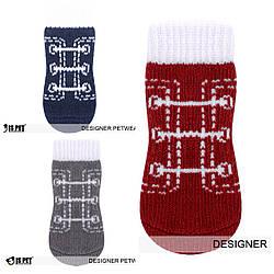 Теплые носки с узором для собак