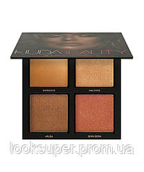 Палетка 3D хайлайтеров Huda Beauty The Bronze Sands Edition