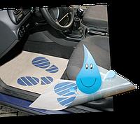 Бумажные коврики 500 шт для салона автомобиля не промокаемые