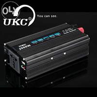 Преобразователь напряжения UKC Technology 2000W (инвертор 12/220В 2000Вт)