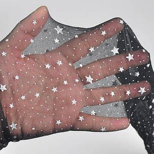 Колготы чёрные со звёздочками- 314-12, фото 2