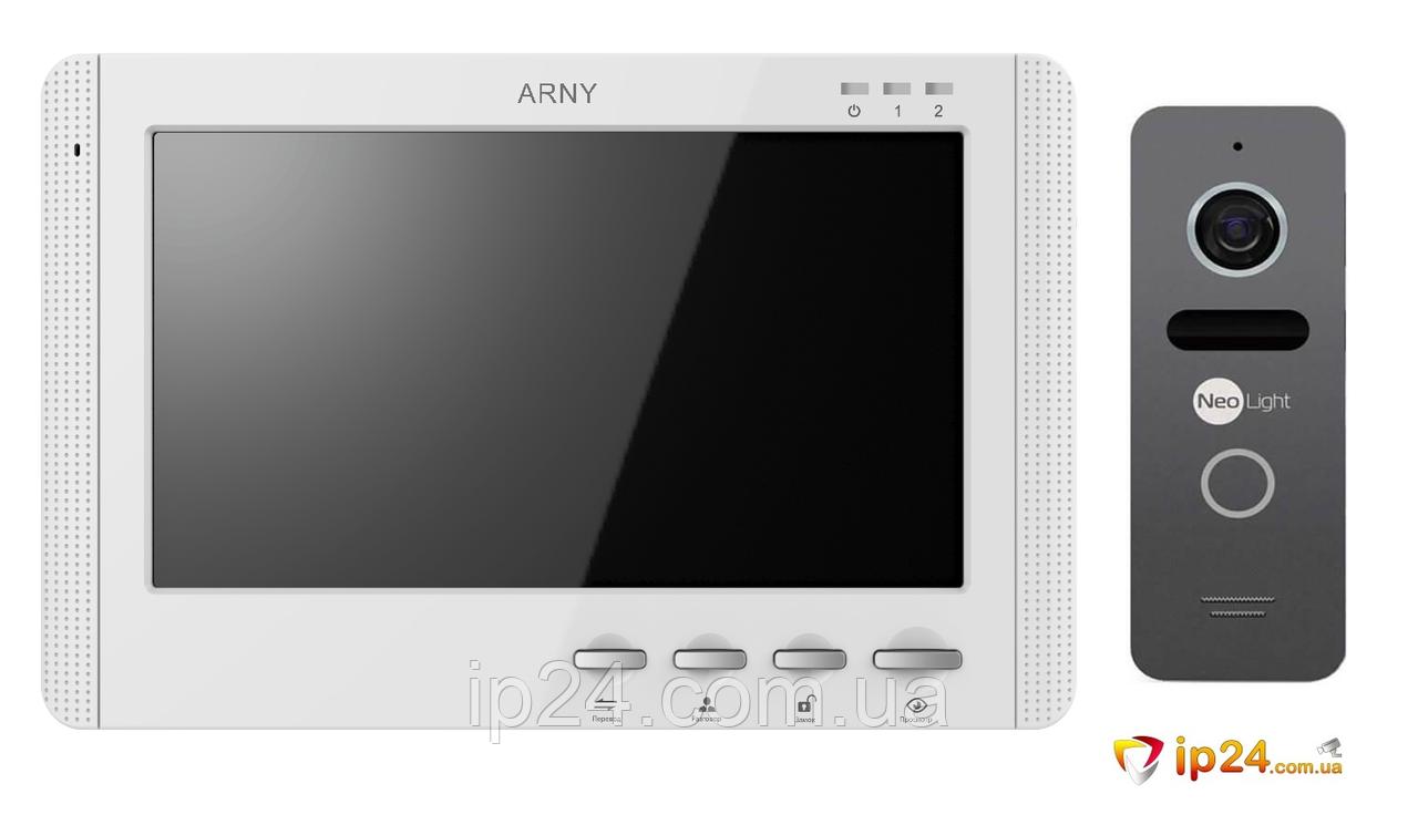 Комплект видеодомофона ARNY AVD-709 + NEOLIGHT SOLO GRAPHITE