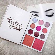 Палетка Теней и Румян В Стиле Kylie Diary Pressed Powder Palette