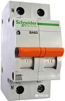Автоматический выключатель 25А 4,5кА 1p+N тип C 11215 Домовой ВА63 Schneider Electric