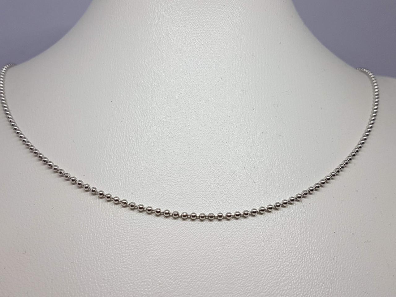 Срібний ланцюжок (Перлина). Артикул 2204947FA 40