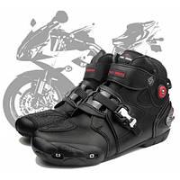 Riding Tribe A9003 Профессиональные мотоциклетные сапоги Мотокросс Racing  Водонепроницаемый байкер Защитите обувь для голеностопа - Черный 33225985b3a70